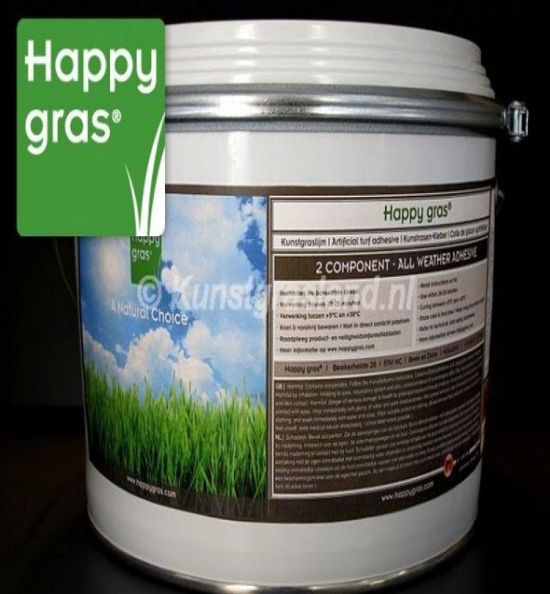 2-componenten kunstgraslijm Happy gras 7 KG