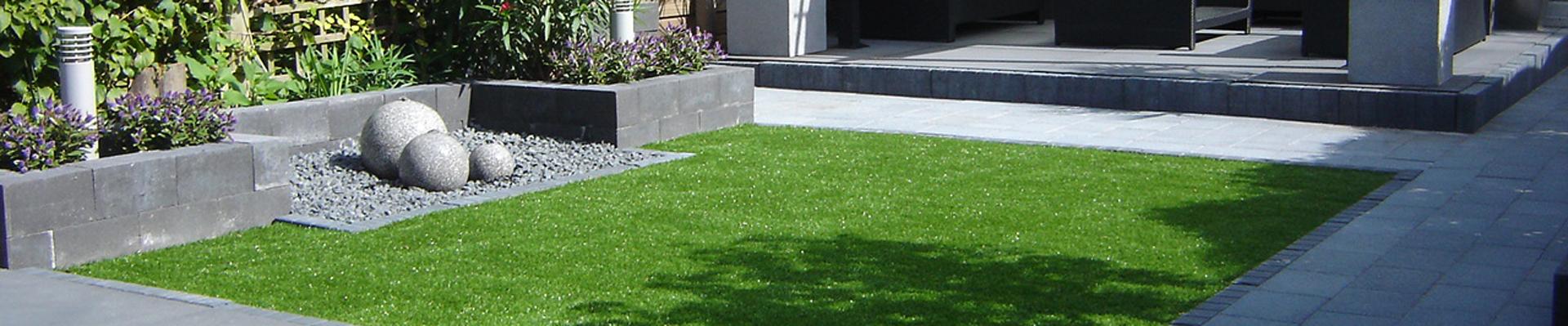Kunstgras aangelegd