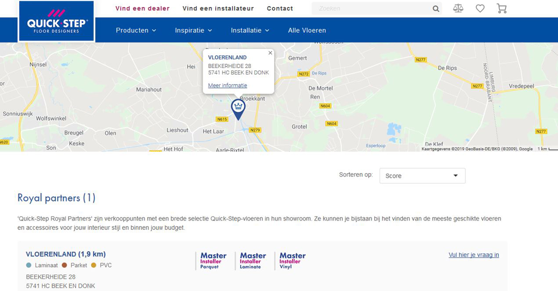 Royal Quick-step dealer   Vloerenland